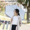 折りたたみ傘 波ボーダー 自動開閉 ミニ傘 54cm【H・A・U 機能傘】【レディース 雨傘 かわいい レイングッズ アンブレラ 折り畳み傘】