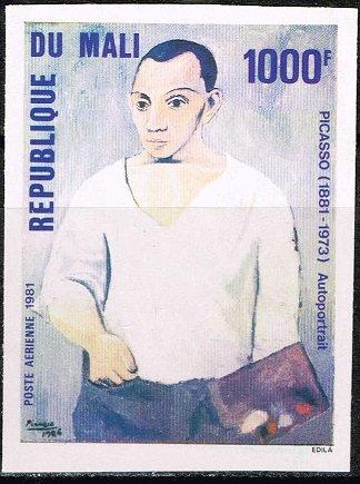 【無目打】ピカソ生誕100年の切手 マリ1981年1種完