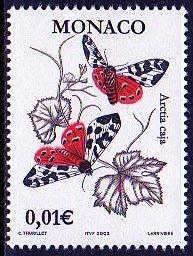 (モナコ)蛾の切手 昆虫
