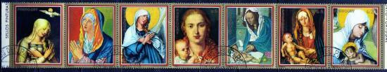 パラグアイ1979年・クリスマス・絵画・宗教・キリスト教・7種完