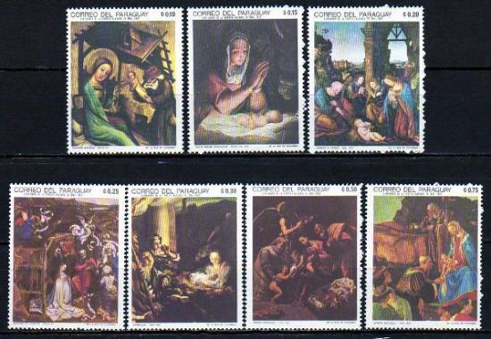 パラグアイ1969年・絵画・キリスト教・宗教・7種完