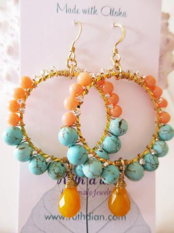 【30%OFF】Hapa(Orange)/ピアス