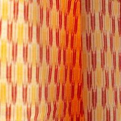 久留米絣 矢絣/橙・黄・白