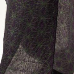 久留米絣 麻の葉/深緑・紫