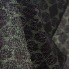 久留米絣 バタフライ/深緑・紺