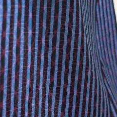 久留米絣 麻の葉×縞/紺・青・ピンク