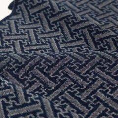 手織り久留米絣 大きな綸子(1反)