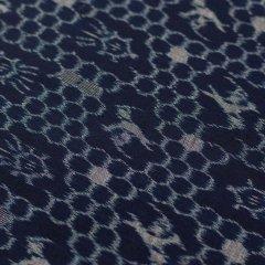 手織り久留米絣 鶴亀