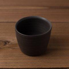 馬場勝文陶工房 黒釉 切立カップ