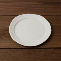 馬場勝文陶工房 白磁マット リムしのぎ 20cm皿