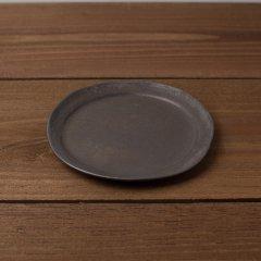 馬場勝文陶工房 黒釉 リム細 5.5寸皿