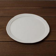 馬場勝文陶工房 白磁マット リム細 8寸皿