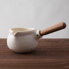 馬場勝文陶工房 耐熱 ミルクパン 白(*アイボリー)