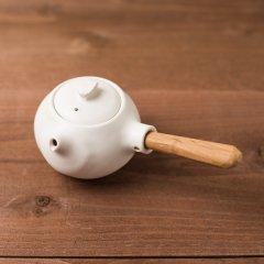馬場勝文陶工房 白磁マット 急須(煎茶)