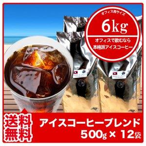 【送料無料】アイスコーヒーブレンド(ラオス)まとめ買い【500g×12袋】