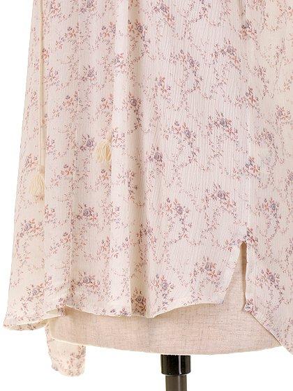 LOVESTITCHのZohraBlouse/海外ファッションが好きな大人カジュアルのためのLOVESTITCH(ラブステッチ)のトップスやシャツ・ブラウス。可憐な小花柄の柔らかトップス。甘めの柄なので、着用モデルの様にブラックのボトムやクラッシュデニムのショートパンツなどと合わせるのがおすすめ。/main-11