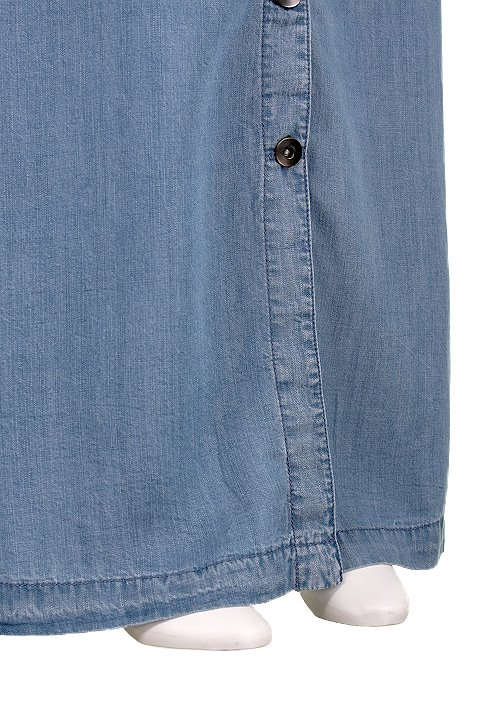 LOVESTITCHのJoanieMaxiSkirt/海外ファッションが好きな大人カジュアルのためのLOVESTITCH(ラブステッチ)のボトムやスカート。薄手のテンセルデニムを使用したマキシスカート。テロテロの素材感で季節を問わず大活躍。/main-7