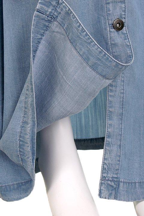 LOVESTITCHのJoanieMaxiSkirt/海外ファッションが好きな大人カジュアルのためのLOVESTITCH(ラブステッチ)のボトムやスカート。薄手のテンセルデニムを使用したマキシスカート。テロテロの素材感で季節を問わず大活躍。/main-8