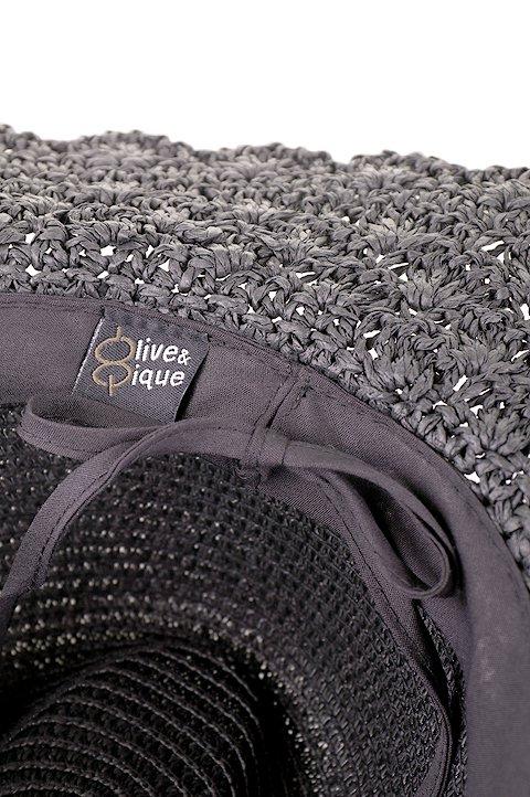 L.A.直輸入のCrochetWideBrimPanama(Black)大人カジュアルに最適な海外ファッションのothers(その他インポートアイテム)のハット&キャップや。ブリム(つば)がカギ編みになったストローハット。様々な顔の形にマッチするタイプのシルエットです。/main-9