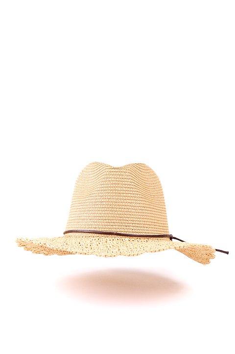 L.A.直輸入のCrochetWideBrimPanama(Natural)大人カジュアルに最適な海外ファッションのothers(その他インポートアイテム)のハット&キャップや。ブリム(つば)がカギ編みになったストローハット。様々な顔の形にマッチするタイプのシルエットです。