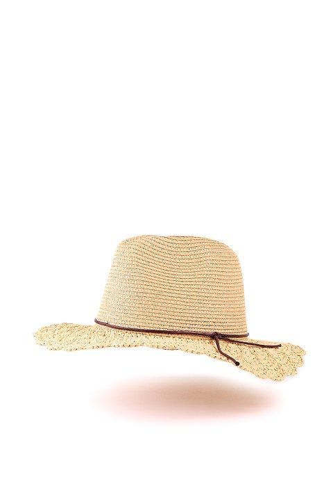 L.A.直輸入のCrochetWideBrimPanama(Natural)大人カジュアルに最適な海外ファッションのothers(その他インポートアイテム)のハット&キャップや。ブリム(つば)がカギ編みになったストローハット。様々な顔の形にマッチするタイプのシルエットです。/main-1