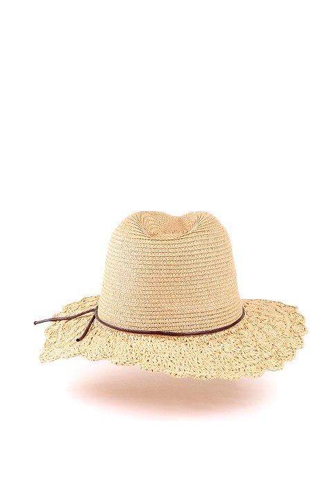 L.A.直輸入のCrochetWideBrimPanama(Natural)大人カジュアルに最適な海外ファッションのothers(その他インポートアイテム)のハット&キャップや。ブリム(つば)がカギ編みになったストローハット。様々な顔の形にマッチするタイプのシルエットです。/main-4
