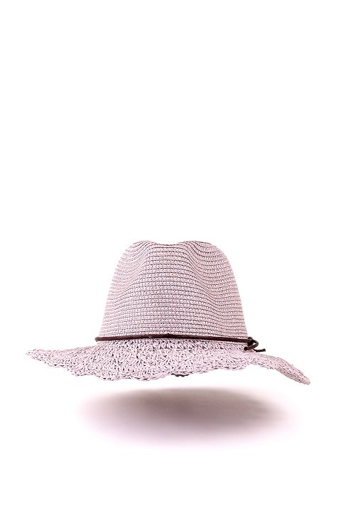 L.A.直輸入のCrochetWideBrimPanama(Gray)大人カジュアルに最適な海外ファッションのothers(その他インポートアイテム)のハット&キャップや。ブリム(つば)がカギ編みになったストローハット。様々な顔の形にマッチするタイプのシルエットです。