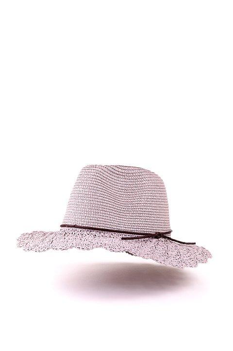 L.A.直輸入のCrochetWideBrimPanama(Gray)大人カジュアルに最適な海外ファッションのothers(その他インポートアイテム)のハット&キャップや。ブリム(つば)がカギ編みになったストローハット。様々な顔の形にマッチするタイプのシルエットです。/main-1