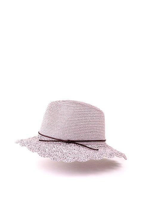 L.A.直輸入のCrochetWideBrimPanama(Gray)大人カジュアルに最適な海外ファッションのothers(その他インポートアイテム)のハット&キャップや。ブリム(つば)がカギ編みになったストローハット。様々な顔の形にマッチするタイプのシルエットです。/main-2