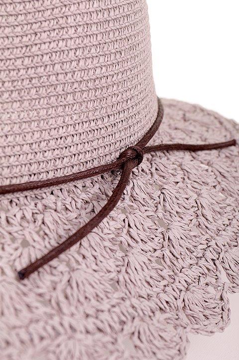 L.A.直輸入のCrochetWideBrimPanama(Gray)大人カジュアルに最適な海外ファッションのothers(その他インポートアイテム)のハット&キャップや。ブリム(つば)がカギ編みになったストローハット。様々な顔の形にマッチするタイプのシルエットです。/main-6