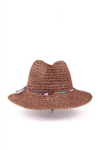 海外ファッションや大人カジュアルにオススメなインポートセレクトアイテムL.A.直輸入のStone Bead Wide Brim Crochet Panama