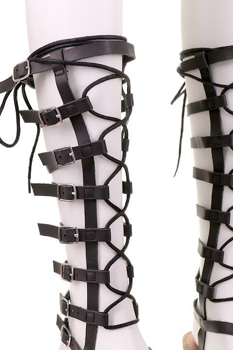 L.A.直輸入のLaceUpTallGladiatorSandal大人カジュアルに最適な海外ファッションのothers(その他インポートアイテム)のシューズや。こんなトールタイプのグラディエーターを探していた方も多いはず・・・。クールな大人コーデを楽しんでもらうためにブラックをセレクト。/main-6
