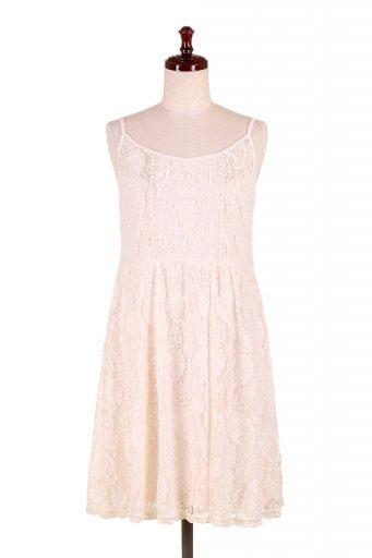 海外ファッションや大人カジュアルのためのボヘミアンブランドANGIE(アンジー)のCrochet Lace Strap Dress