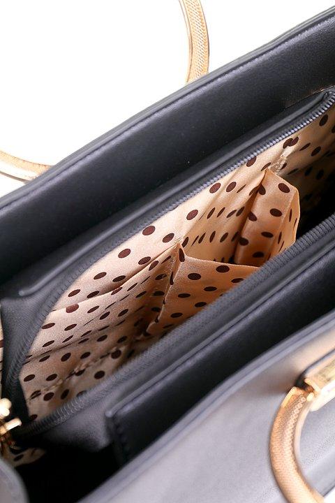 meliebiancoのCameron(Black)/海外ファッション好きにオススメのインポートバッグとかばん、MelieBianco(メリービアンコ)のバッグやハンドバッグ。なめらかなマテリアルを使用したラウンドタイプのハンドバッグ。丸いボディと丸いハンドルがアンティーク風な雰囲気を醸し出しています。/main-6