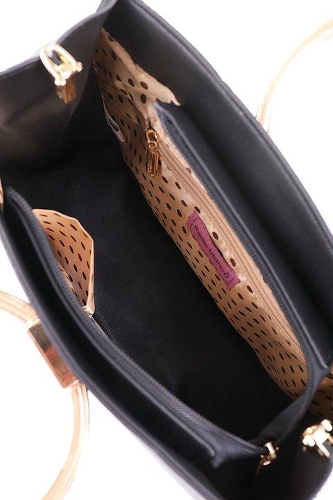 meliebiancoのCameron(Black)/海外ファッション好きにオススメのインポートバッグとかばん、MelieBianco(メリービアンコ)のバッグやハンドバッグ。なめらかなマテリアルを使用したラウンドタイプのハンドバッグ。丸いボディと丸いハンドルがアンティーク風な雰囲気を醸し出しています。/main-7