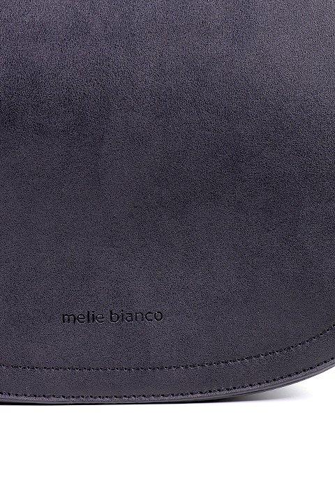 meliebiancoのCameron(Black)/海外ファッション好きにオススメのインポートバッグとかばん、MelieBianco(メリービアンコ)のバッグやハンドバッグ。なめらかなマテリアルを使用したラウンドタイプのハンドバッグ。丸いボディと丸いハンドルがアンティーク風な雰囲気を醸し出しています。/main-9