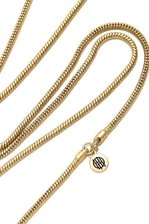 HouseOfHarlow1960のHeliconMedallionNecklace/ニコールリッチーが手掛けるアクセサリーブランド、HouseOfHarlow1960(ハウスオブハーロウ)のアクセサリーやネックレス。ブラック&ゴールドの人気のコンビネーションカラーのネックレス。ゴールドのスタッズにブラックのレザーが高級感を醸し出します。/main-9