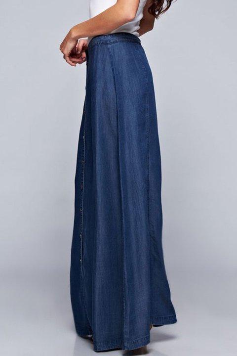 LOVESTITCHのJoanieMaxiSkirt(Indigo)テンセルデニム・マキシスカート/海外ファッションが好きな大人カジュアルのためのLOVESTITCH(ラブステッチ)のボトムやスカート。薄手のテンセルデニムを使用したマキシスカート。テロテロの素材感で季節を問わず大活躍。/main-12