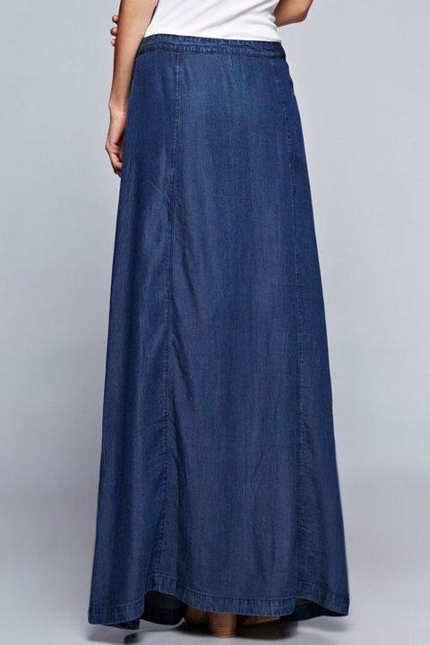 LOVESTITCHのJoanieMaxiSkirt(Indigo)テンセルデニム・マキシスカート/海外ファッションが好きな大人カジュアルのためのLOVESTITCH(ラブステッチ)のボトムやスカート。薄手のテンセルデニムを使用したマキシスカート。テロテロの素材感で季節を問わず大活躍。/main-13