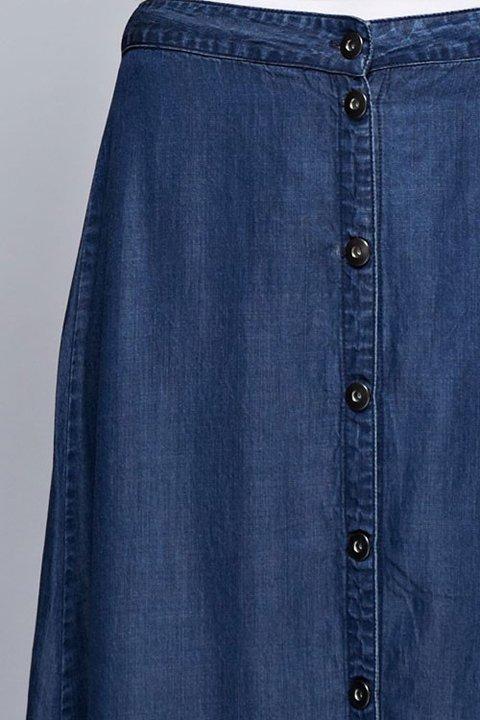 LOVESTITCHのJoanieMaxiSkirt(Indigo)テンセルデニム・マキシスカート/海外ファッションが好きな大人カジュアルのためのLOVESTITCH(ラブステッチ)のボトムやスカート。薄手のテンセルデニムを使用したマキシスカート。テロテロの素材感で季節を問わず大活躍。/main-14
