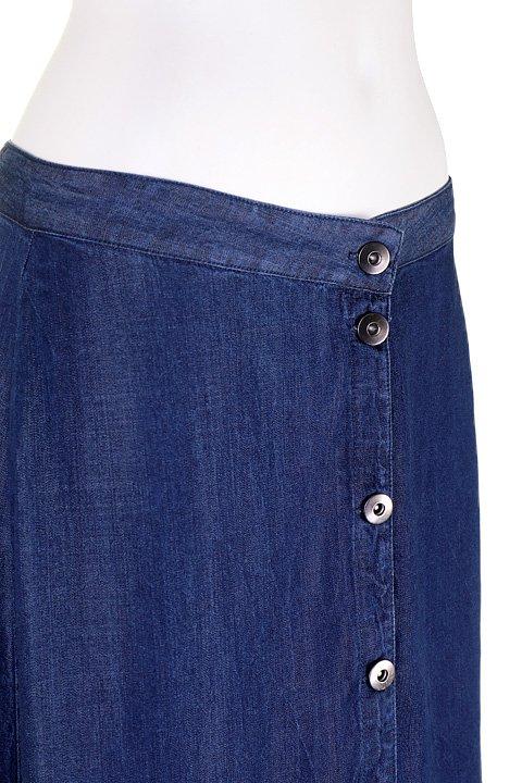 LOVESTITCHのJoanieMaxiSkirt(Indigo)テンセルデニム・マキシスカート/海外ファッションが好きな大人カジュアルのためのLOVESTITCH(ラブステッチ)のボトムやスカート。薄手のテンセルデニムを使用したマキシスカート。テロテロの素材感で季節を問わず大活躍。/main-5