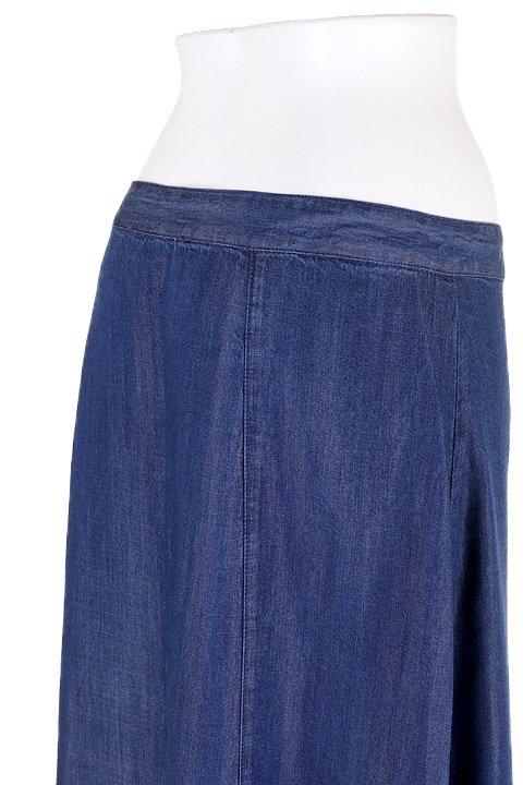 LOVESTITCHのJoanieMaxiSkirt(Indigo)テンセルデニム・マキシスカート/海外ファッションが好きな大人カジュアルのためのLOVESTITCH(ラブステッチ)のボトムやスカート。薄手のテンセルデニムを使用したマキシスカート。テロテロの素材感で季節を問わず大活躍。/main-6