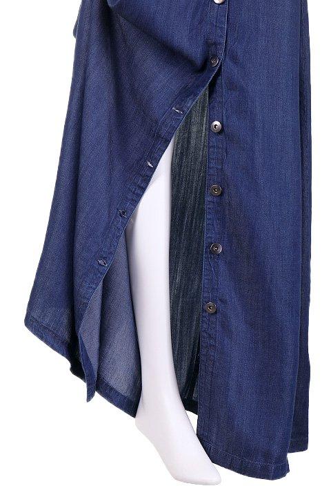 LOVESTITCHのJoanieMaxiSkirt(Indigo)テンセルデニム・マキシスカート/海外ファッションが好きな大人カジュアルのためのLOVESTITCH(ラブステッチ)のボトムやスカート。薄手のテンセルデニムを使用したマキシスカート。テロテロの素材感で季節を問わず大活躍。/main-7