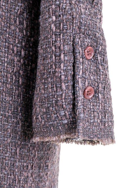 Italy直輸入のWovenKnitMidiCoat大人カジュアルに最適な海外ファッションのothers(その他インポートアイテム)のアウターやコート。粗めの糸で織り上げた生地のミディコート。ピーコートの様なデザインですが、上質で上品な質感です。/main-10
