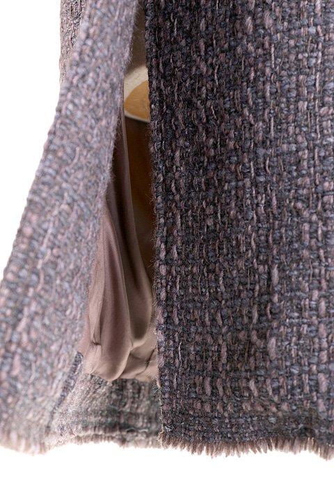 Italy直輸入のWovenKnitMidiCoat大人カジュアルに最適な海外ファッションのothers(その他インポートアイテム)のアウターやコート。粗めの糸で織り上げた生地のミディコート。ピーコートの様なデザインですが、上質で上品な質感です。/main-11