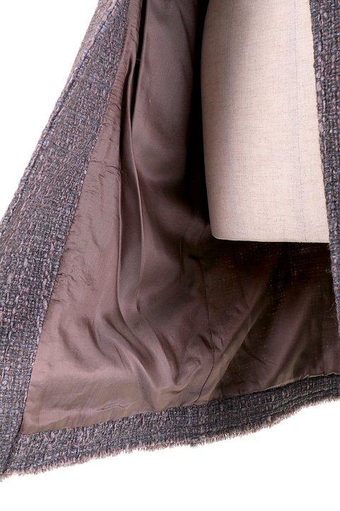 Italy直輸入のWovenKnitMidiCoat大人カジュアルに最適な海外ファッションのothers(その他インポートアイテム)のアウターやコート。粗めの糸で織り上げた生地のミディコート。ピーコートの様なデザインですが、上質で上品な質感です。/main-12
