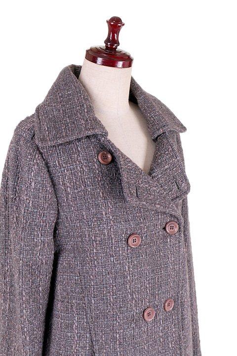 Italy直輸入のWovenKnitMidiCoat大人カジュアルに最適な海外ファッションのothers(その他インポートアイテム)のアウターやコート。粗めの糸で織り上げた生地のミディコート。ピーコートの様なデザインですが、上質で上品な質感です。/main-5