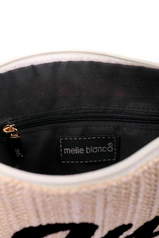 meliebiancoのTropezauRevoirClutchストロークラッチバッグ/海外ファッション好きにオススメのインポートバッグとかばん、MelieBianco(メリービアンコ)のバッグやクラッチバッグ。夏に大活躍しそうなストロークラッチバッグ。ビーガンレザーと同じ素材を編みこんでいるので天然素材の物よりもしっかりしています。/main-10