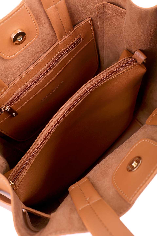 meliebiancoのDevry(Tan)/海外ファッション好きにオススメのインポートバッグ、MelieBianco(メリービアンコ)のバッグやトートバッグ。毎回大人気のバッグインバッグ付きのトートバッグが入荷しました。付属のストラップを付ければショルダーバッグとしてご利用いただけます。/main-10