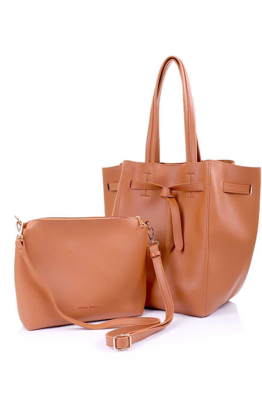 meliebiancoのDevry(Tan)/海外ファッション好きにオススメのインポートバッグ、MelieBianco(メリービアンコ)のバッグやトートバッグ。毎回大人気のバッグインバッグ付きのトートバッグが入荷しました。付属のストラップを付ければショルダーバッグとしてご利用いただけます。/main-13